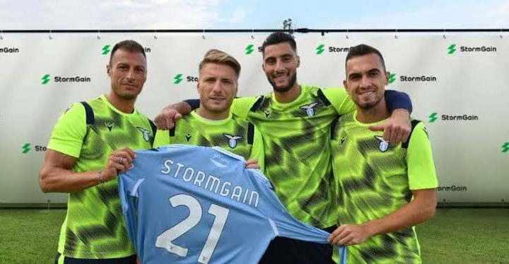 SS Lazio Soccer Club  Partners With Crypto Firm, StormGain